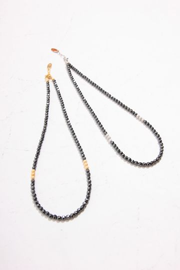【PIECE OF CHORD】HEMATITE×METAL ネックレス