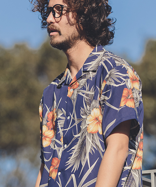 【ANGENEHM(アンゲネーム)】Comfortable Open Color Vintage Aloha Shirts(MADE IN JAPAN) シャツ(ANG9-003)