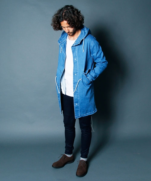 【Magine(マージン)】1634-27-VINTAGE DENIM MILITARY SNOW PARKA