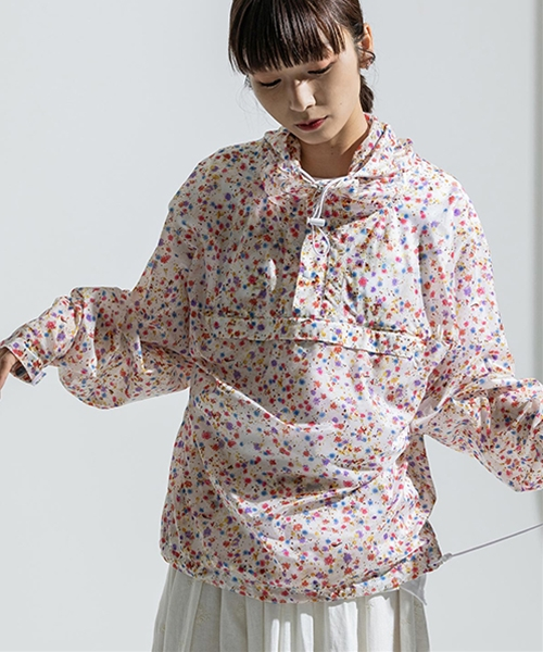 【ANSEASON ANREALAGE】flower nylon pull-over ナイロンプルオーバー(19sas111)