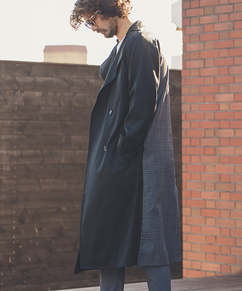 【ANGENEHM(アンゲネーム)】Back Switch Loose Trench Coat(MADE IN JAPAN) コート(ANG9-009)