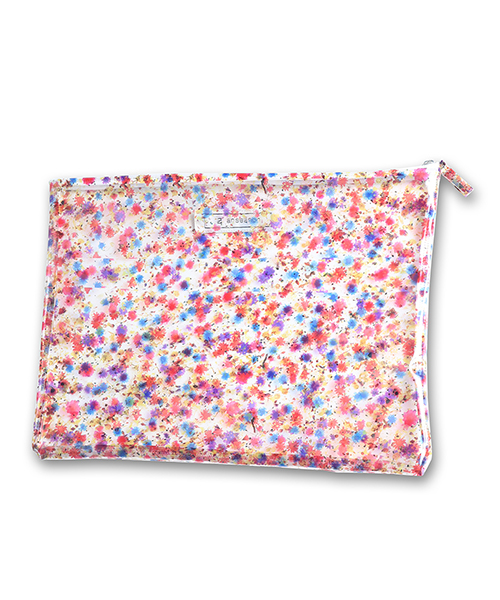 【ANSEASON ANREALAGE】flower pvc poach - large ポーチ(19sasac04)