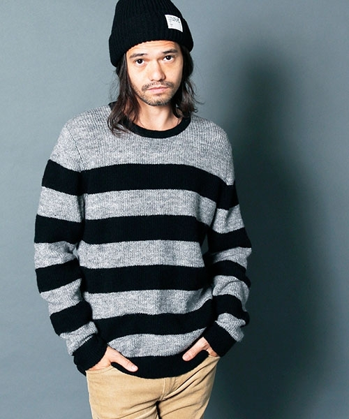 Magine:WOOL NYLON ROYAL RIB BOADER KNIT ニット画像1
