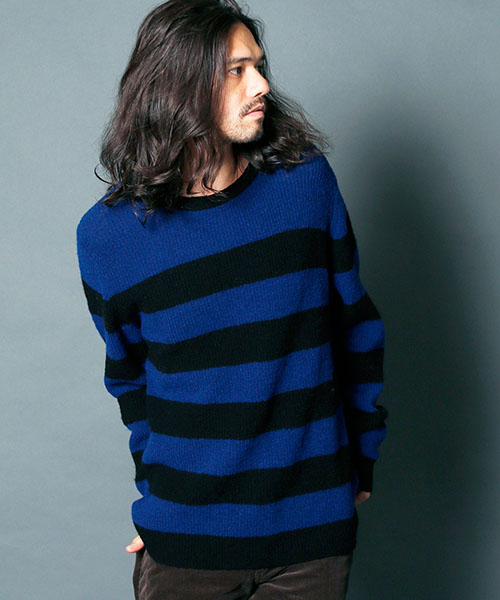 Magine:WOOL NYLON ROYAL RIB BOADER KNIT ニット画像2