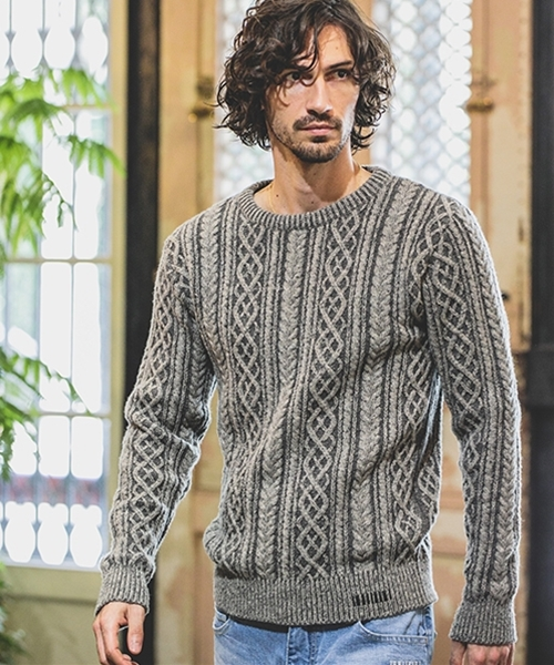 【felkod(フィルコッド)】Cashmere Touch Cable Knit Pullover ニット(F18W060)