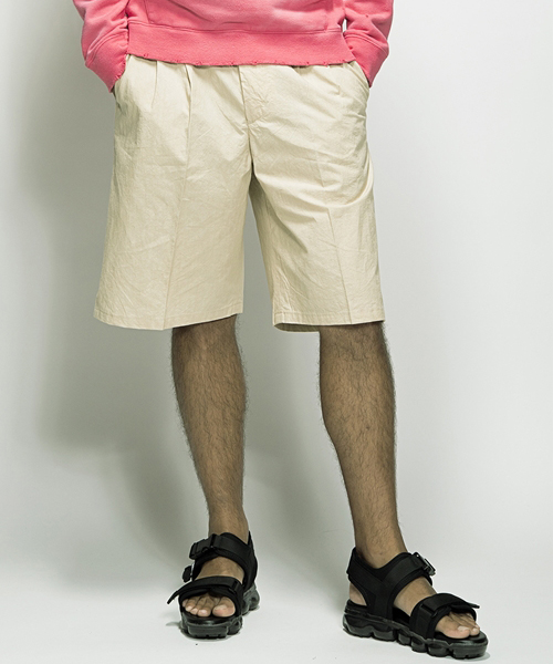 【SEVESKIG(セヴシグ)】-PT-SV-HS-1011-WIDE SHORT PANTS パンツ