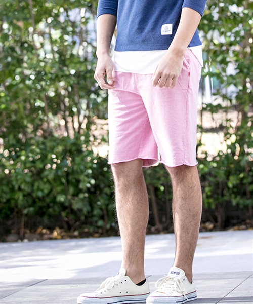 【Smoothy(スムージー)】SM-CMB-010-SMOOTHY×CAMBIO Pigment Dyed Cut Off Shorts For Men ショーツ