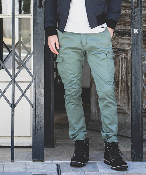 【felkod(フィルコッド)】Stretch Slim Authentic Cargo Pants パンツ(F18W110)