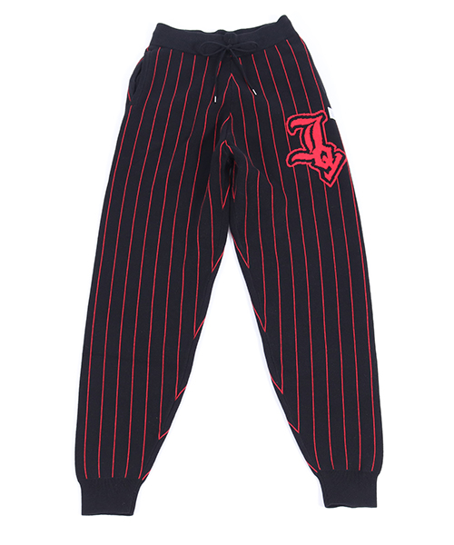 【JOY RICH(ジョイリッチ)】Pinstripe Joy Sweater Pants パンツ(1840102104)