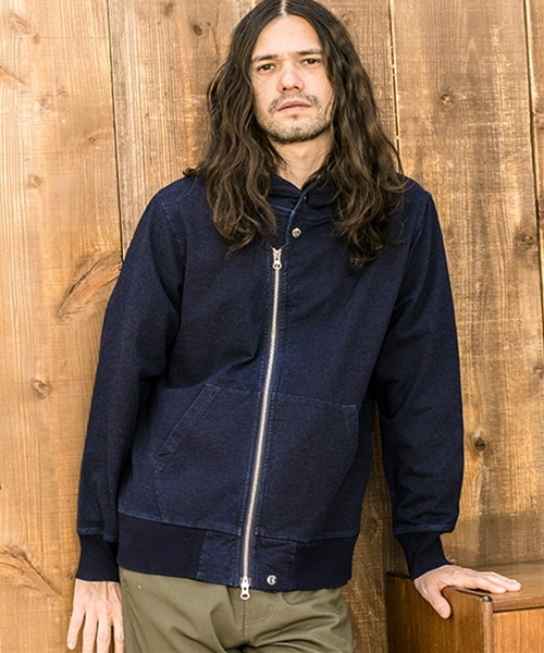 CAMBIO:Indigo URAKE Riders Zip Up Parka パーカー 画像2