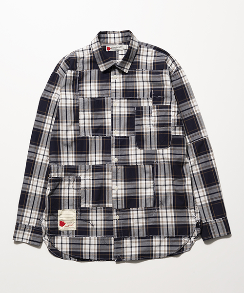 【SEVESKIG(セヴシグ)】PANEL CHECK BORO-SHIRT シャツ(SH-SV-KS-1005)
