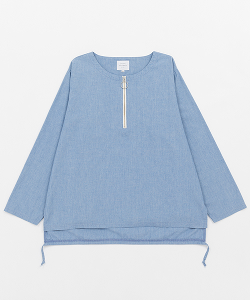 【VICTIM(ヴィクティム)】NO COLLAR CHAMBRAY SHIRTS シャツ(VTM-19-S-027)