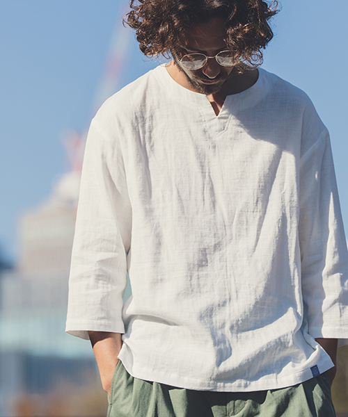 【ANGENEHM(アンゲネーム)】Double Gauze Relax Pullover Shirts(MADE IN JAPAN) シャツ(ANG9-004)