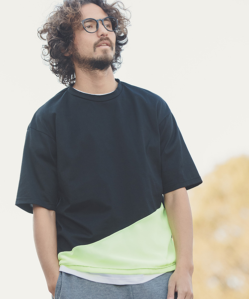【ANGENEHM(アンゲネーム)】Cloth Switch Asymmetry Big Tee(MADE IN JAPAN) Tシャツ(ANG9-024)
