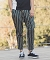 【ANGENEHM(アンゲネーム)】British Stripe Tuck Tapered Ankle Pants(MADE IN JAPAN) パンツ(ANG9-019)